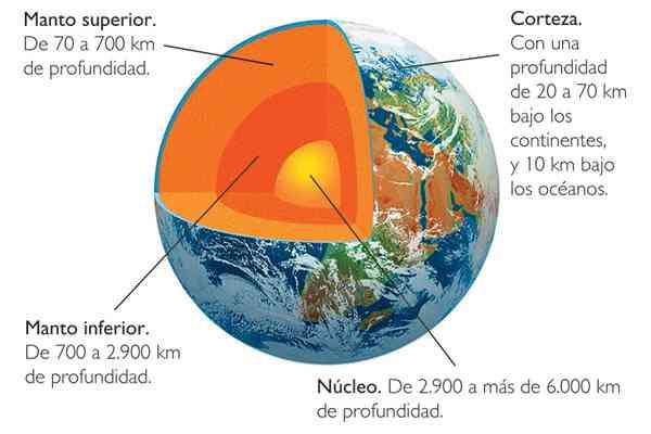 Partes de la tierra for Que elementos conforman el suelo