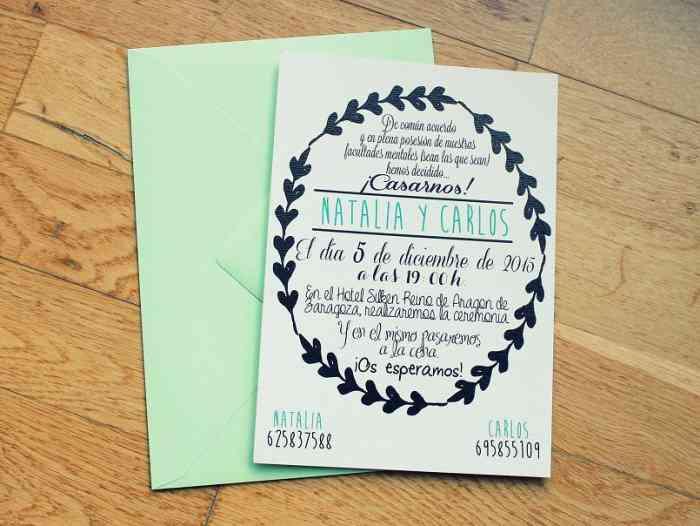 Partes De Una Invitación
