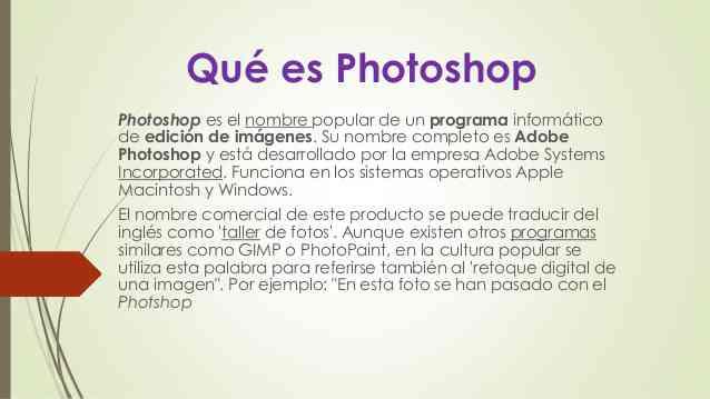 Significado de Photoshop (Qué es, Concepto y Definición ...